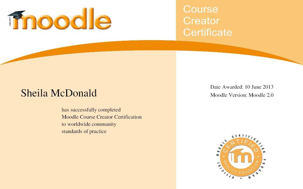 Sheila McDonald MCCC Award